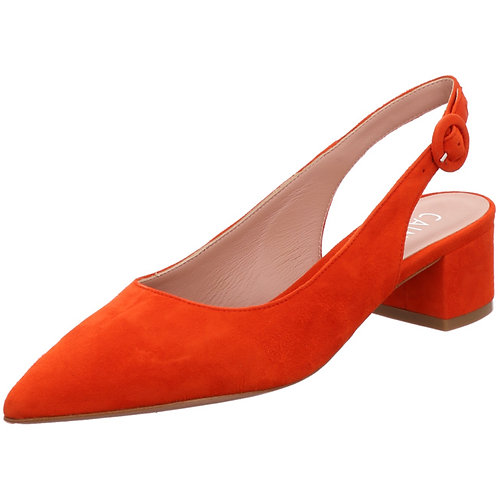 Caiman Sling Pumps Velour rot