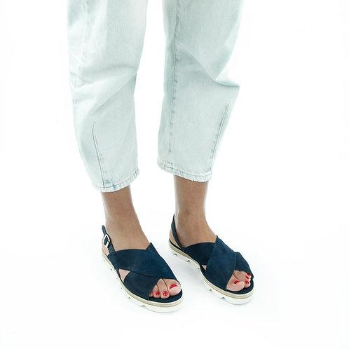 La Cabala Sandale Blau