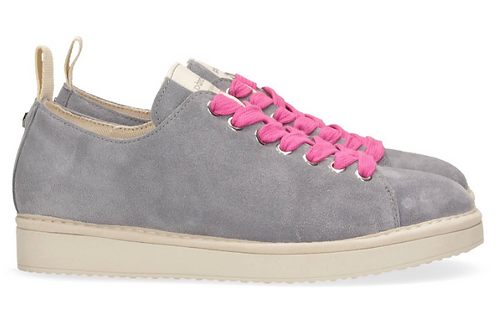 Suede lace-up shoe grey