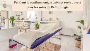 Pendant le confinement, le cabinet reste ouvert pour les soins de Réflexologie