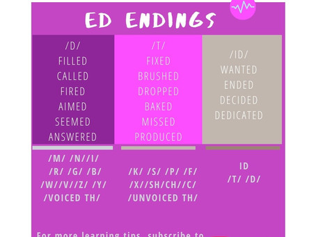 How do you pronounce words ending in ED?
