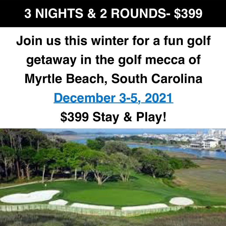 Myrtle Beach Winter Golf Getaway