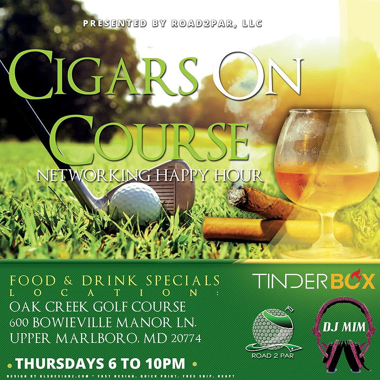 Cigars on Course Networking Happy Hour