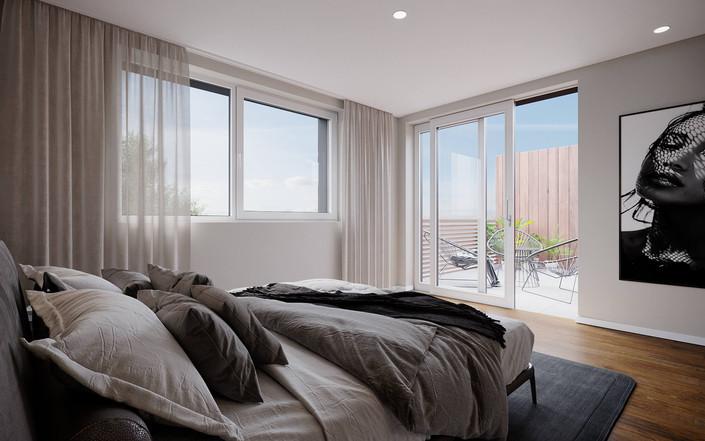 KIRCHWEG | Elternschlafzimmer mit direktem Zugang zum Balkon