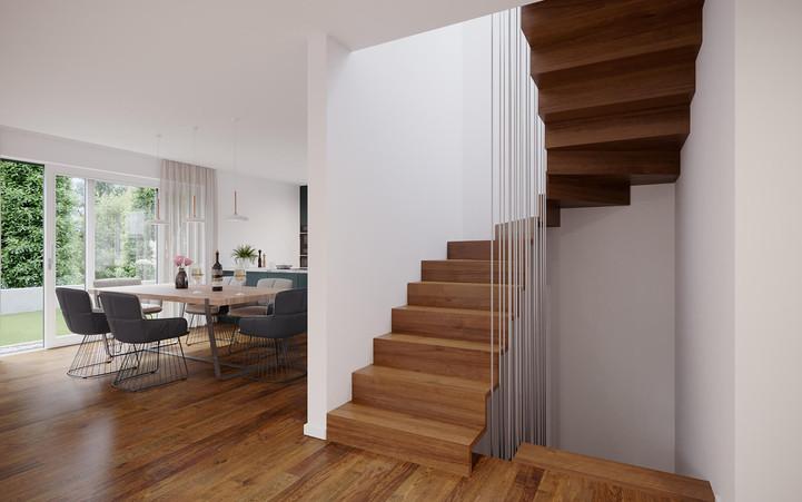 KIRCHWEG |Stilvolle, moderne Treppe