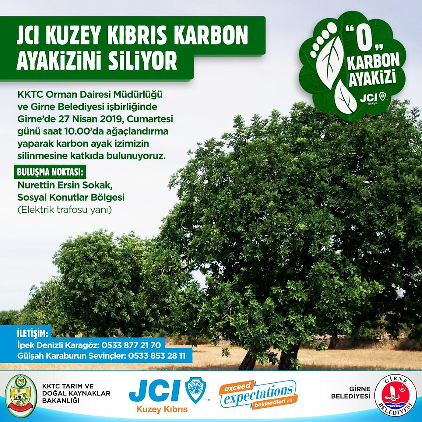 """JCI Kuzey Kıbrıs """"Karbon Ayak İzini Siliyor"""""""