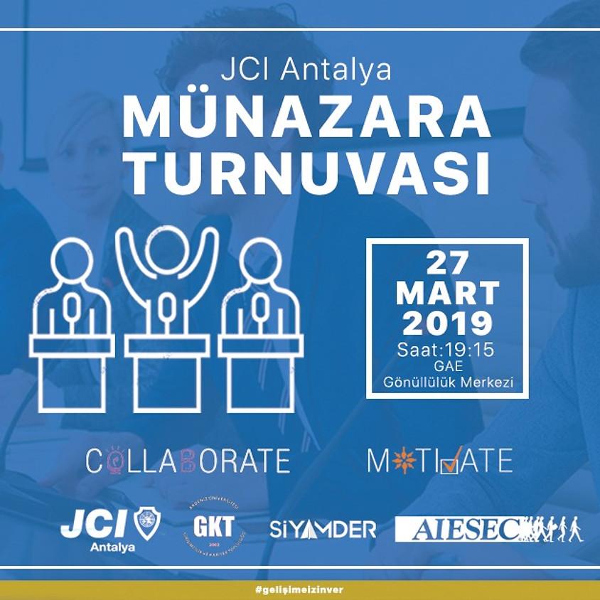Münazara Turnuvalarımıza Davetlisiniz - JCI Antalya