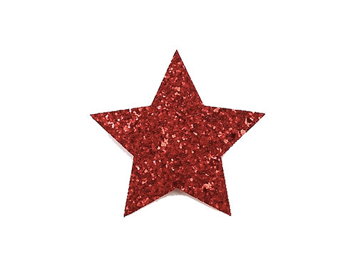 Star clip - Red