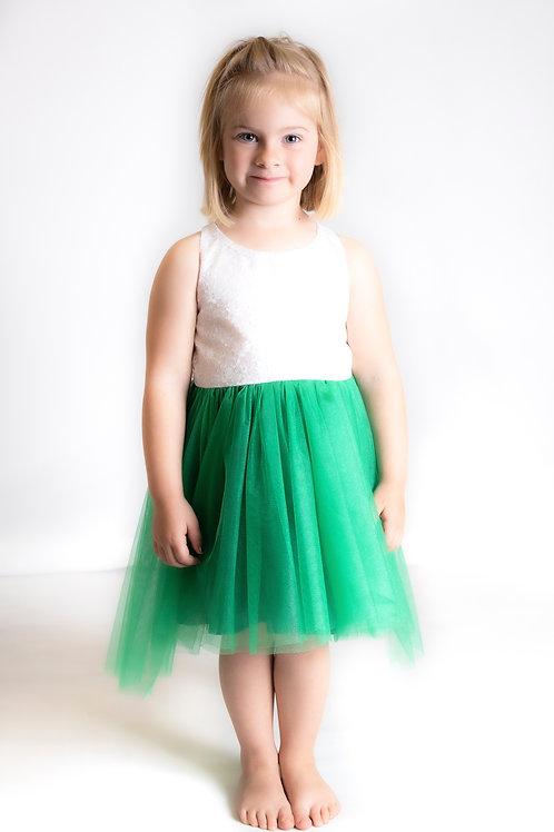 Hi lo green dress