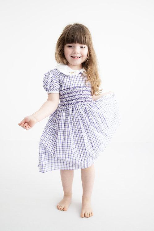 Purple Hand smocked dress