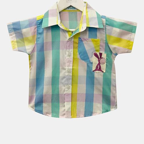 Check shirt with Applique