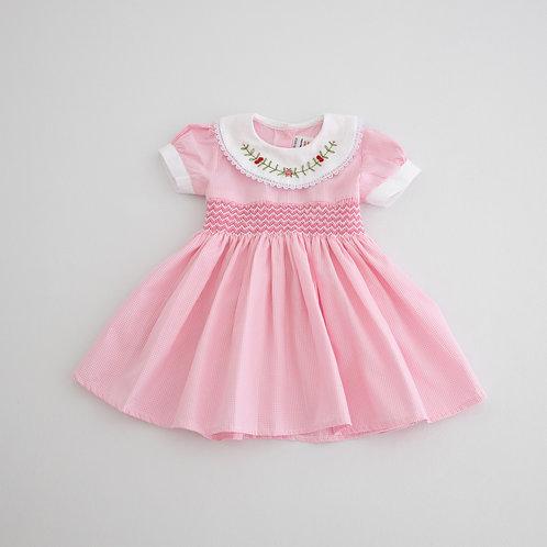 Pink Hand smocked dress