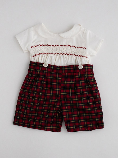 Hand smocked 2 pc set - Unisex
