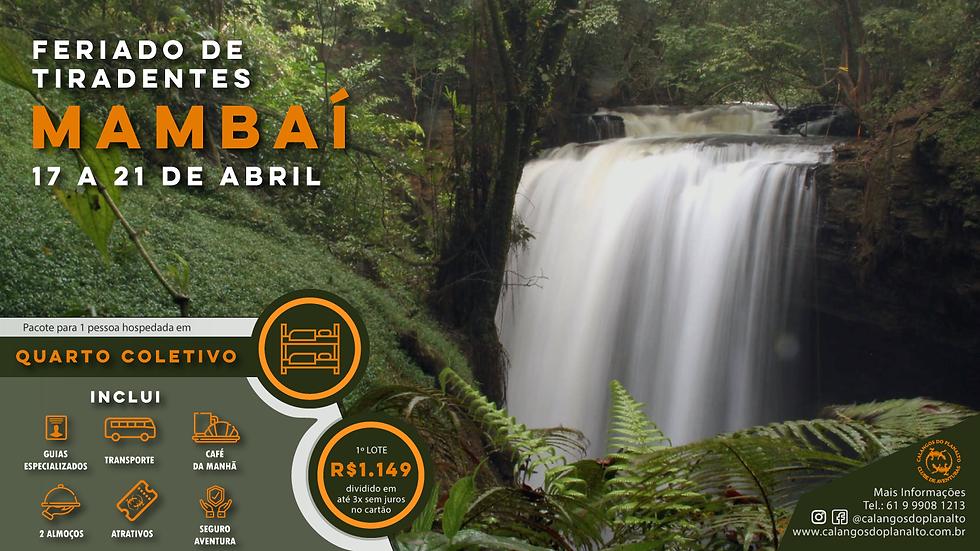 Mambaí Abril 2020 - Vaga Individual Quarto Coletivo