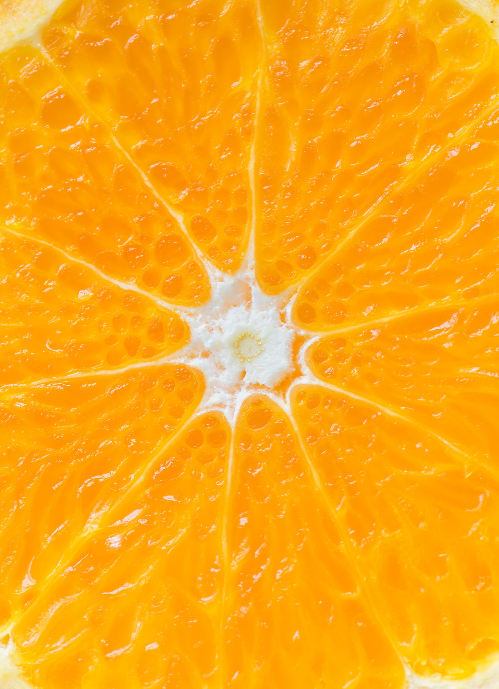A close up of an orange