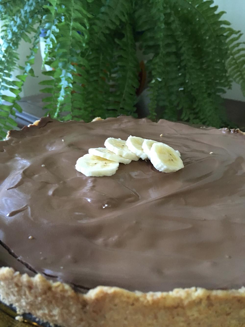 Torta de Banana com Guanache de Chocolate