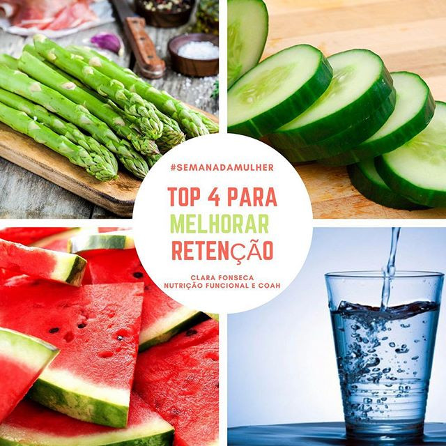 Alimentos para melhorar inchaço