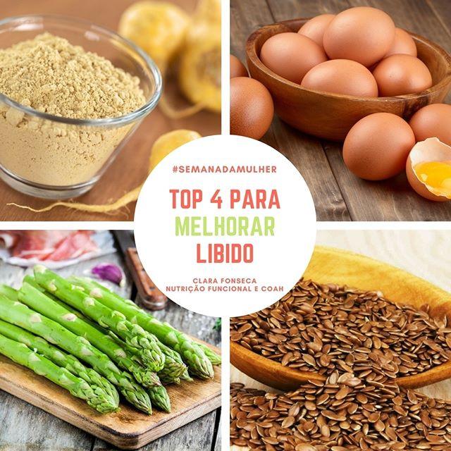 Alimentos para melhorar libido
