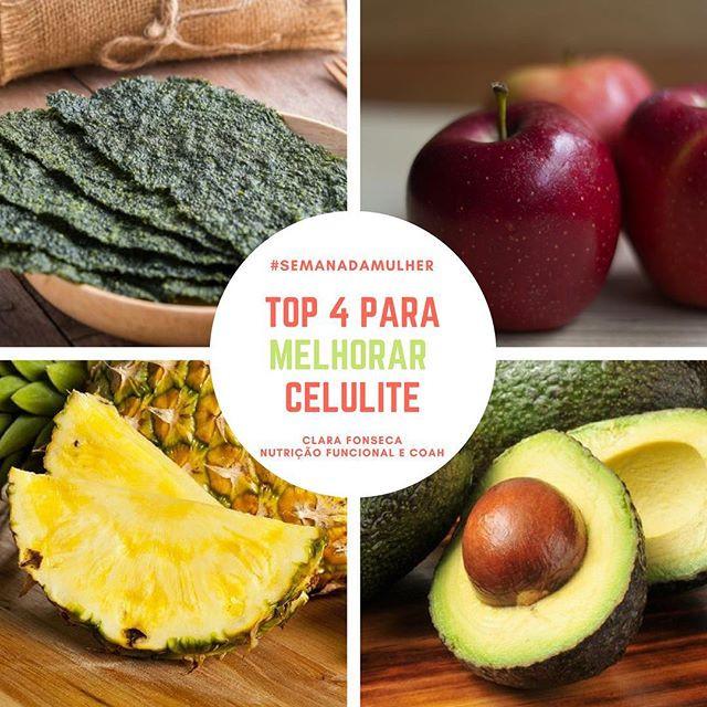 Alimentos para melhorar celulite