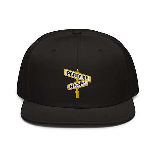 Party on Fifth Ave (Black & Gold) Snapback