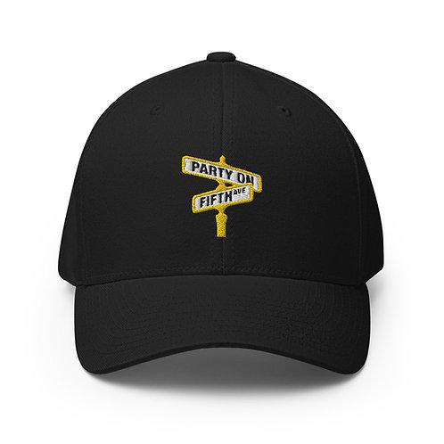 Party on Fifth Ave (Black & Gold) FlexFit Cap