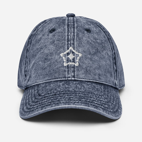 Logo Vintage Denim 'Dad' Hat