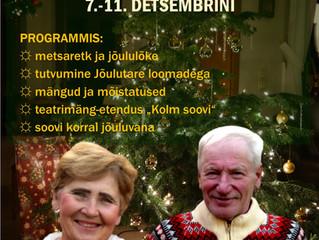 Jõulutare programm Mesipuu talus 7.-11. detsembrini!
