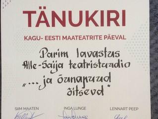Alle-Saija Teatristuudio pälvis Kagu-Eesti Maateatrite päeva kõrgeima preemia