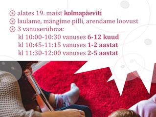 Maikuus alustab teatritalus laste laulu-mänguring!