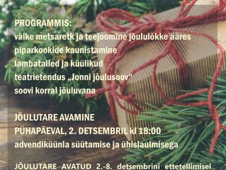 Jõulutare programm Mesipuu talus