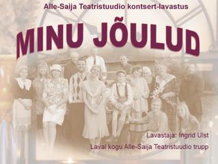 Alle-Saija Teatristuudio jõulupidu 13. detsembril Kanepi Seltsimajas!