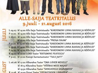 Alle-Saija Teatritalus on tulekul põnev teatrisuvi