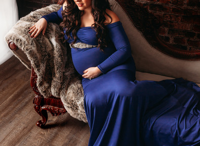 Gorgeous Mama-to-be in Royal Blue