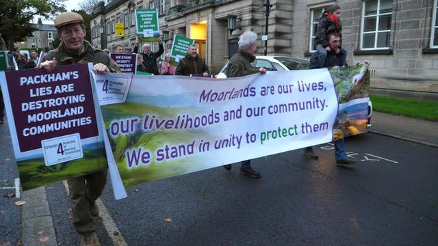 Moorland Communities Stage Peaceful Protest In Harrogate