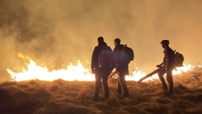 Rural workers save the day at yet another moorland wildfire