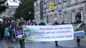 Moorland communities protest in Harrogate against unjust attacks on their livelihoods