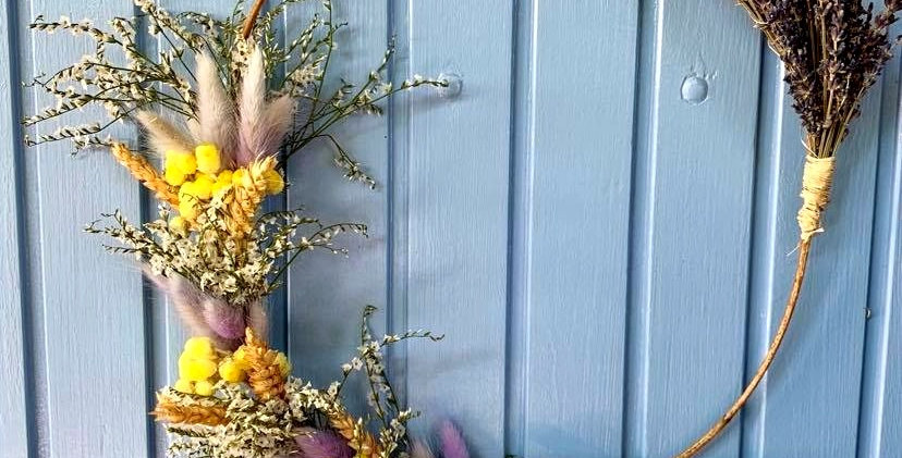 Couronne fleurs sèches