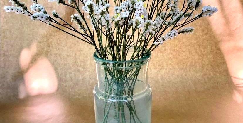 Vase Servent - Bleuté