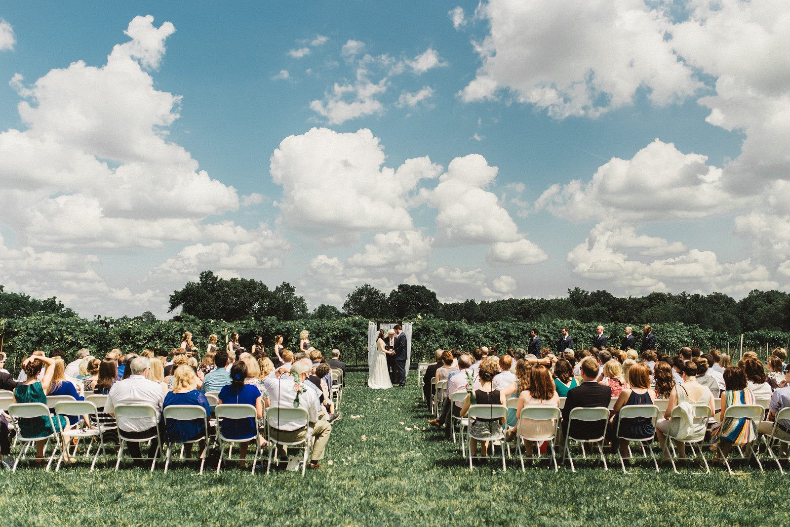 Wedding in front of the Vineyard