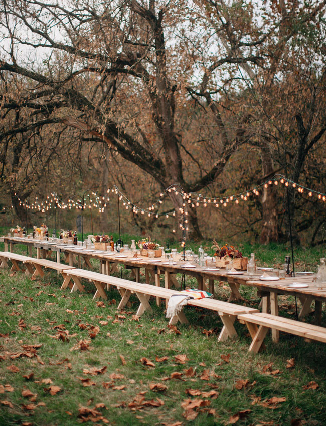 Fall Wedding Dinner Seating