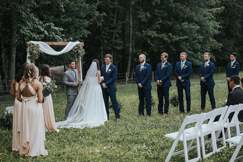 Wedding by the Tree Line