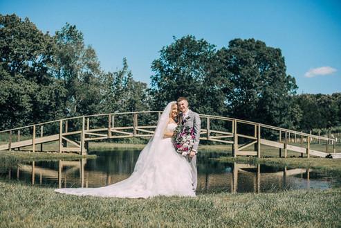 Wedding Photo in Front of the Bridge