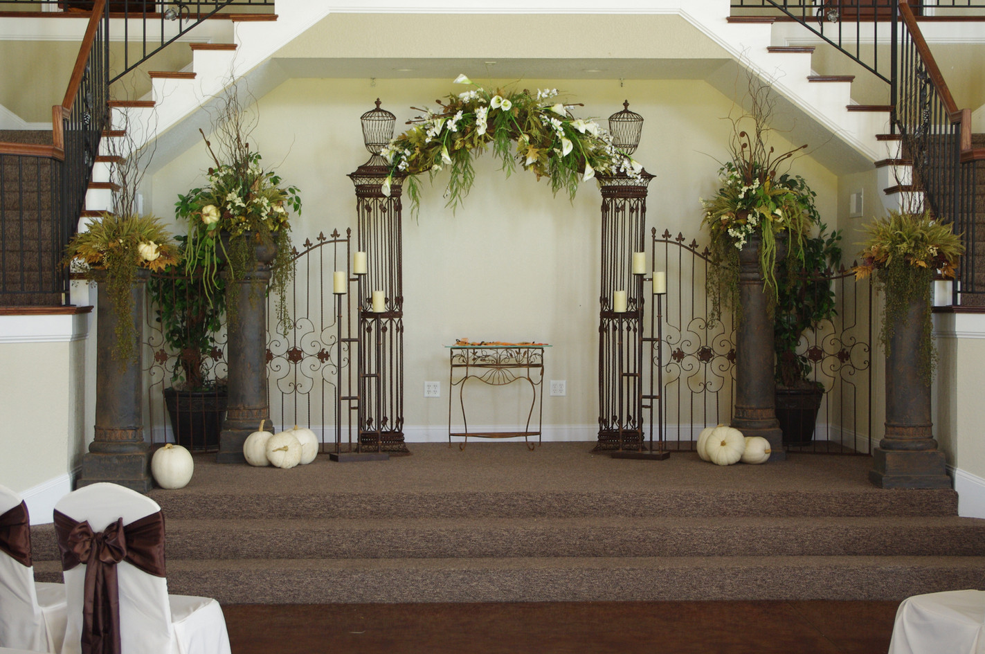 Fall Wedding Stage Decor