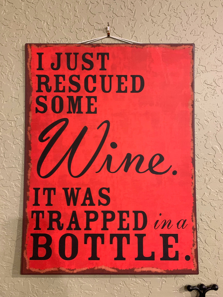 Funny Wine Sign