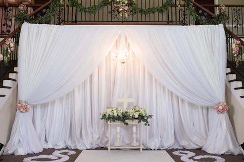 White Draping on Stage