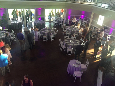 Purple Lighting at Reception