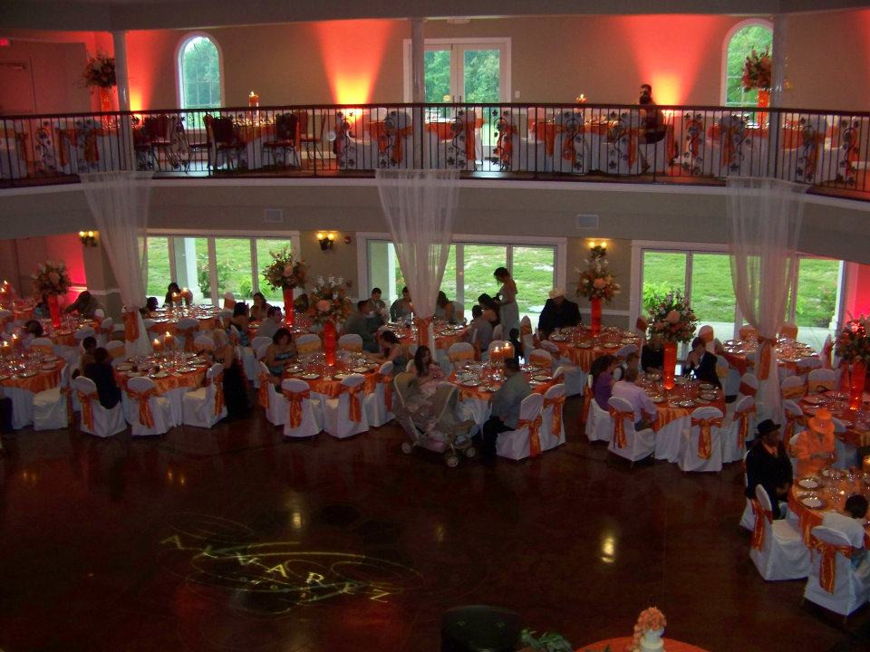 White & Orange Wedding