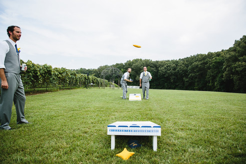Corn Hole on the Lawn