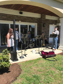 Jazz music out on the lawn