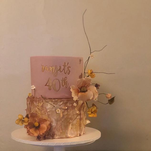 Two tier celebration cake